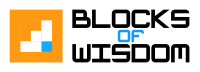 Blocks of Wisdom Logo and Slogan